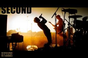 Fotografía del grupo Second que ilustra la portada de su disco 15
